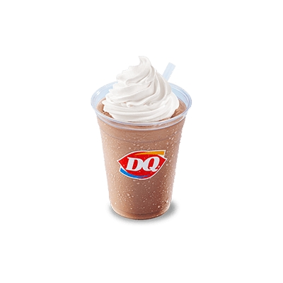 DQ chocolate soft serve ice cream shake