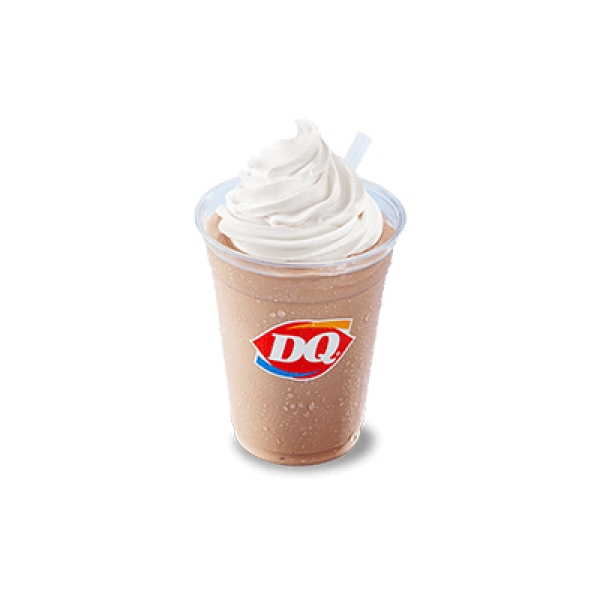 DQ hot fudge soft serve ice cream shake